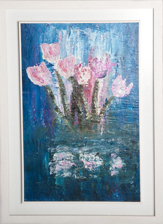 Tulips - Original Canvas Oil Painting