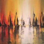 Sleeping Harbour - original art oil painting