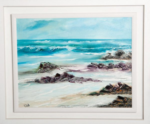 Surf's Up - Original Canvas Oil Painting
