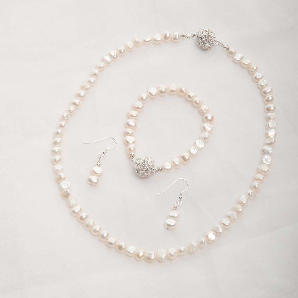Ula – Freshwater Pearl Set – Necklace, Bracelet w/ Earrings 11