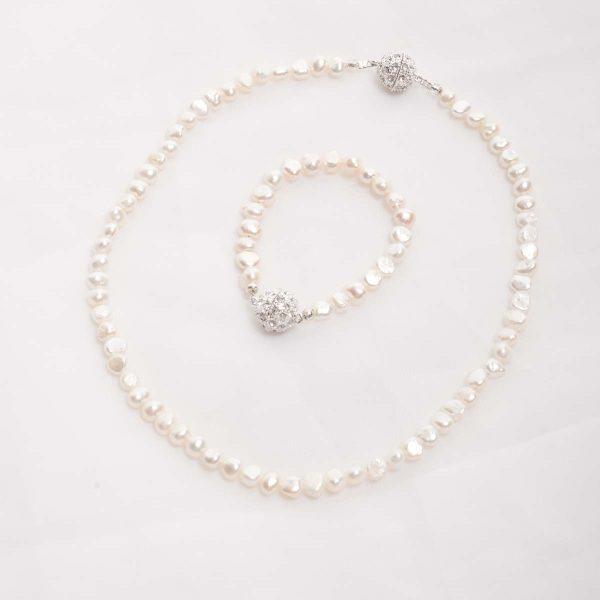 Ula – Freshwater Pearl Set – Necklace, Bracelet 2