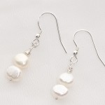 Ula - Freshwater Pearl Earrings with Sterling Silver Earwire 1