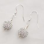 Marella - Rhinestone Crystal Ball Earrings with Sterling Silver 1