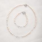Bela – Freshwater and Swarovski Crystal Necklace, Bracelet & Earrings 5