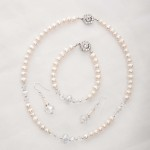 Bela – Freshwater and Swarovski Crystal Necklace, Bracelet & Earrings 2