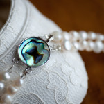 Cordelia - Double Strand Freshwater Pearl Necklace with Abalone Clasp 5