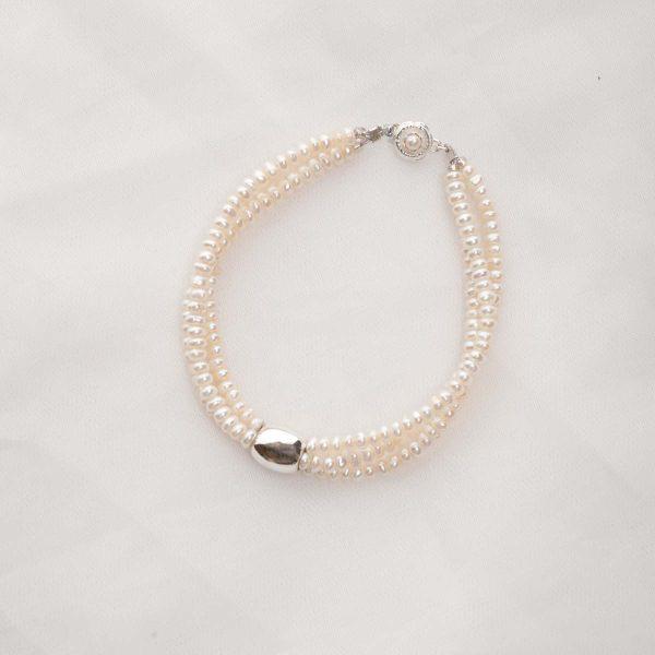 Earwyn - Three Strand 3mm Freshwater Seed Pearls w/Sterling Silver Pendant Set w/FREE Earrings 19