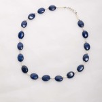 Azura - Lapis Lazuli  14mm oval beads with 3-4mm freshwater pearl beads w/sterling silver lobster clasp 2