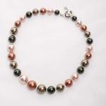Tasi - South Pacific Pink Seashell  Earrings with Rhinestone Encrusted Bead 4