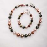 Tasi - South Pacific Pink Seashell  Earrings with Rhinestone Encrusted Bead 3