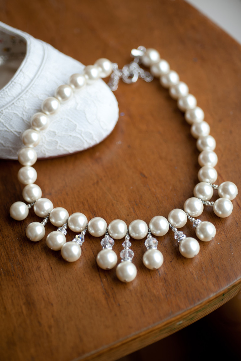 Alexandra- White coloured Freshwater pearl 11