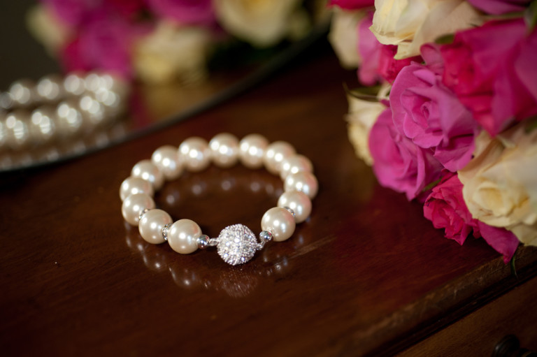 Alexandra- White coloured Freshwater pearl 12