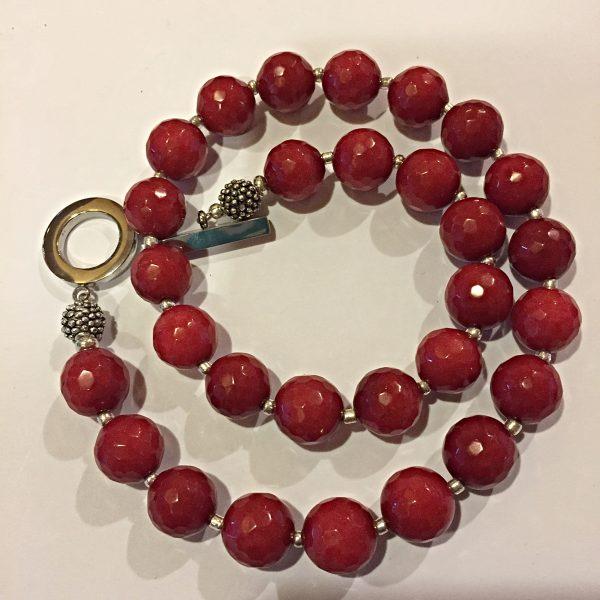 Great Amanda - Red Jade Necklace 9