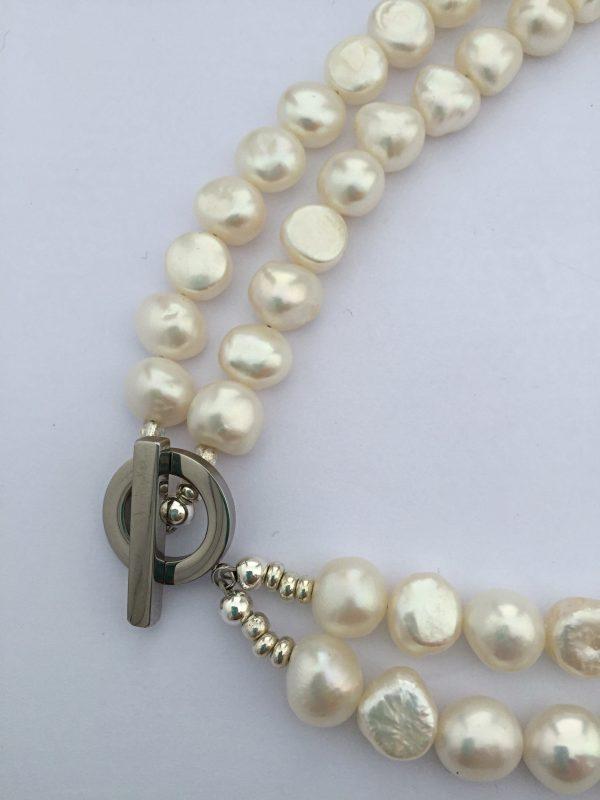 lady Jane - Freshwater Pearl Double Bracelet 8
