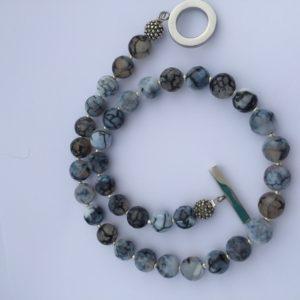 Amanda Agate Gray Necklace