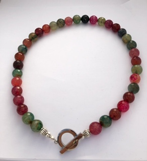 Pink and Green Agate