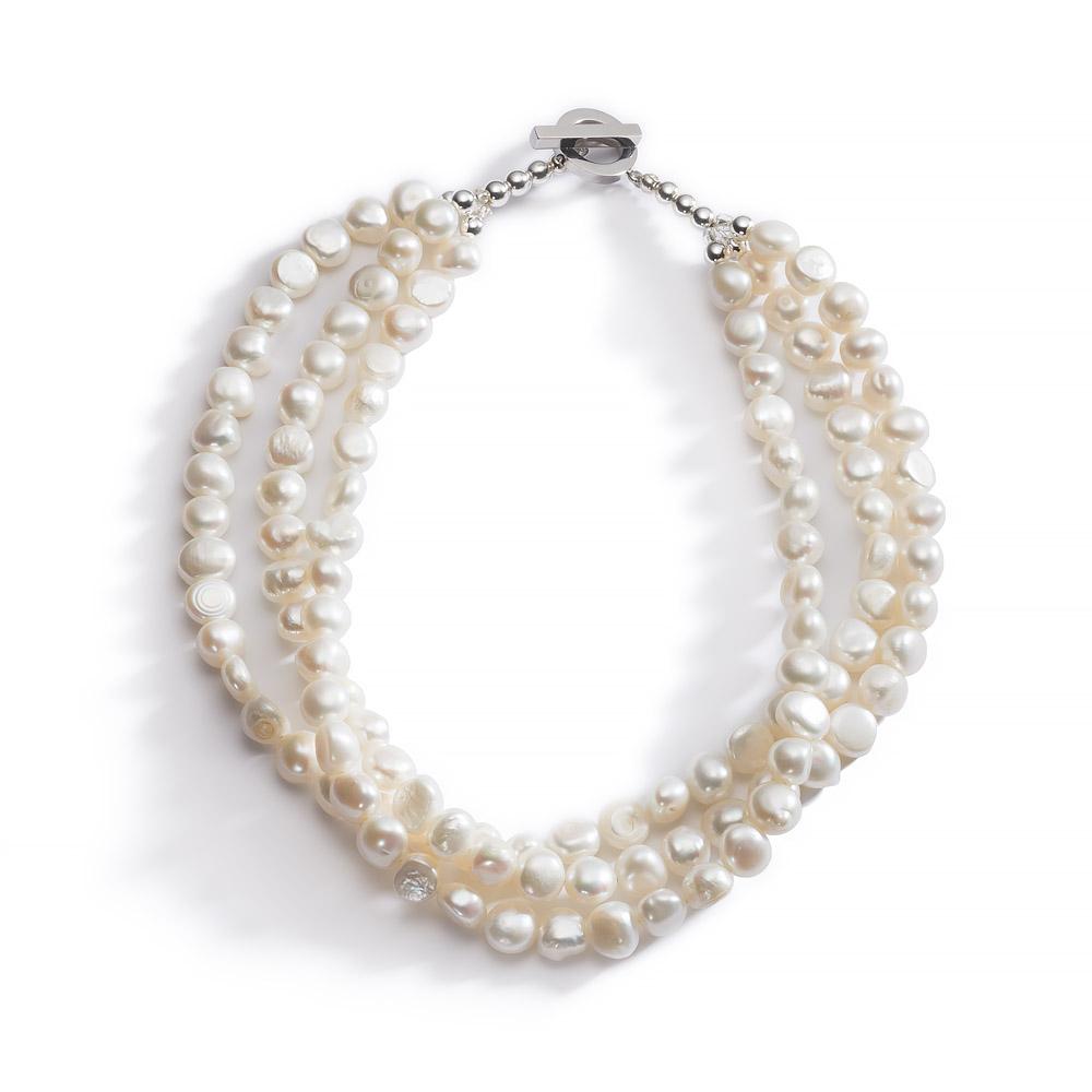 Pearl Necklace 'Lady Jane'. Irish Jewellery Design. Made in Cork