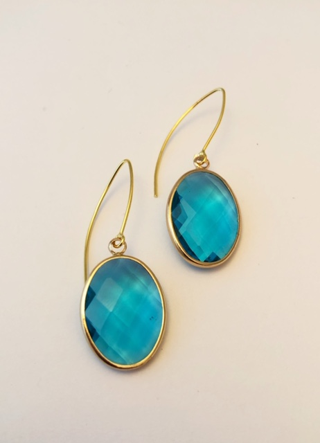 crystal turquise drop earrings