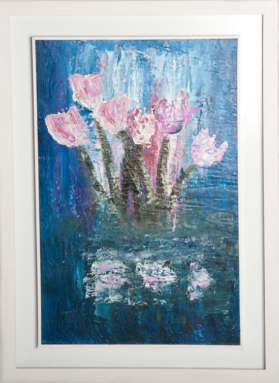 Tulips - Original Canvas Oil Painting
