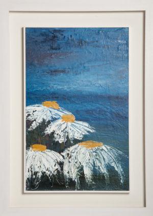 Daisy Days - Framed Canvas Oil Original