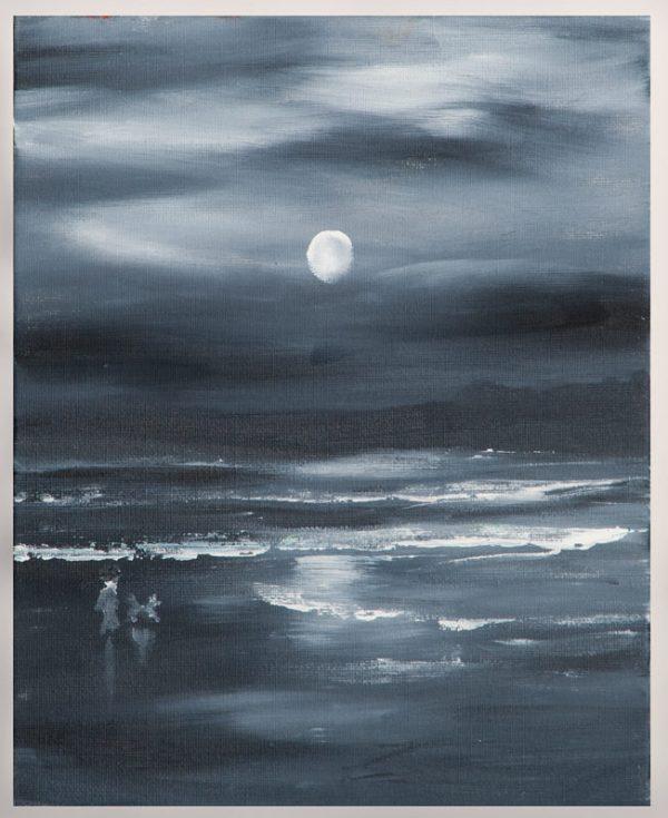 Night Falls - Original Canvas Oil Painting
