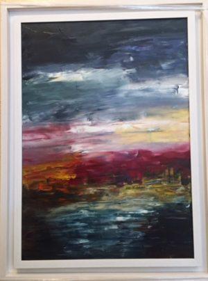 Crimson Tide - Original Oil Painting on Canvas