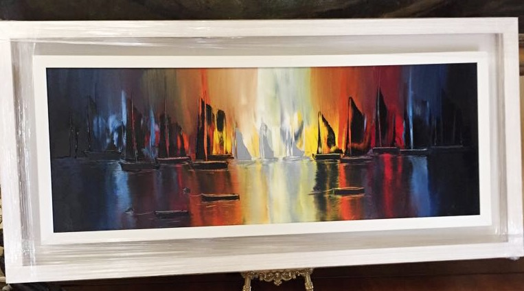 Northern Sails - Oil Painting on Canvas