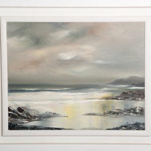 Grey Skies - Original Canvas Oil Painting