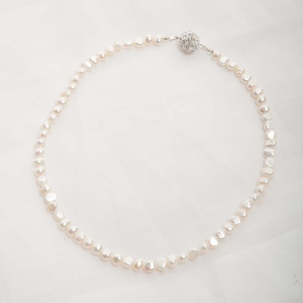 Ula - Single Strand Freshwater Pearl Necklace 13