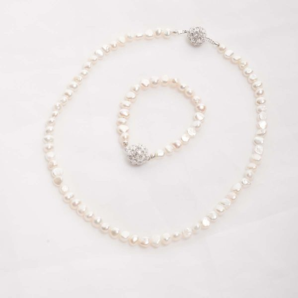 Ula – Freshwater Pearl Set – Necklace, Bracelet 2