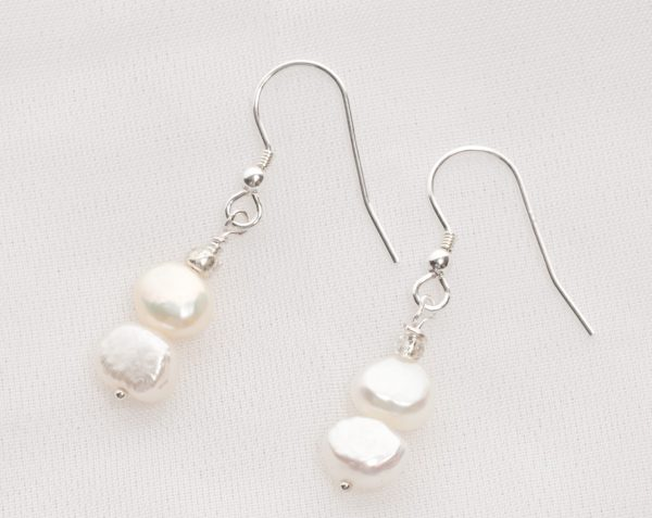 Ula - Freshwater Pearl Earrings with Sterling Silver Earwire 9