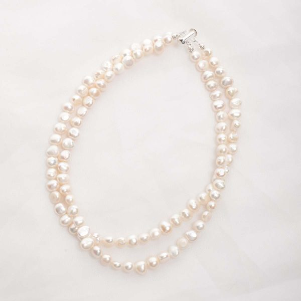 Ula – Double Strand Freshwater Pearl Necklace 9