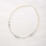Marella - Freshwater Pearls, Swarovski Crystals with Rhinestone Necklace 2