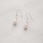 Marella - Freshwater Pearl & Rhinestone Drop Earrings 2