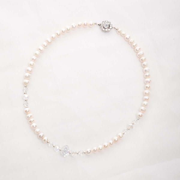 Bela - Freshwater and Swarovski Crystal Necklace 14