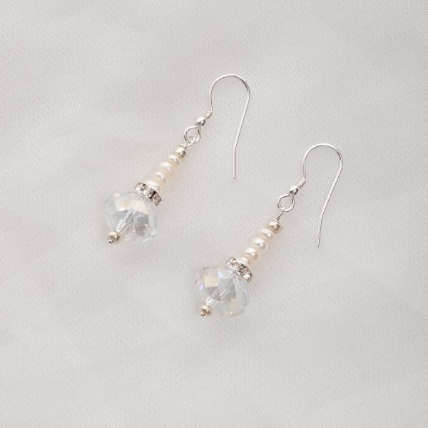 Bela – Freshwater and Swarovski Crystal Earrings 5