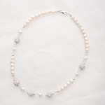 Meryl – Freshwater Pearl and Swarovski Crystal Necklace and Bracelet 3