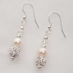 Meryl - Freshwater Pearl and Swarovski Crystal Earrings 2