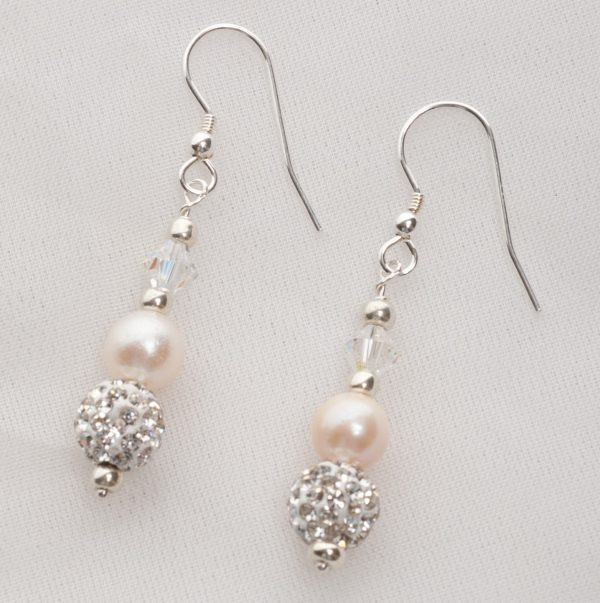 Meryl - Freshwater Pearl and Swarovski Crystal Earrings 2