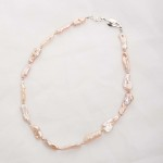 Lavinia – Baroque (Salmon/Pink) Cultured Freshwater Pearl Necklace 2