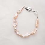 Lavinia – Baroque (Salmon/Pink) Cultured Freshwater Pearl Bracelet 2