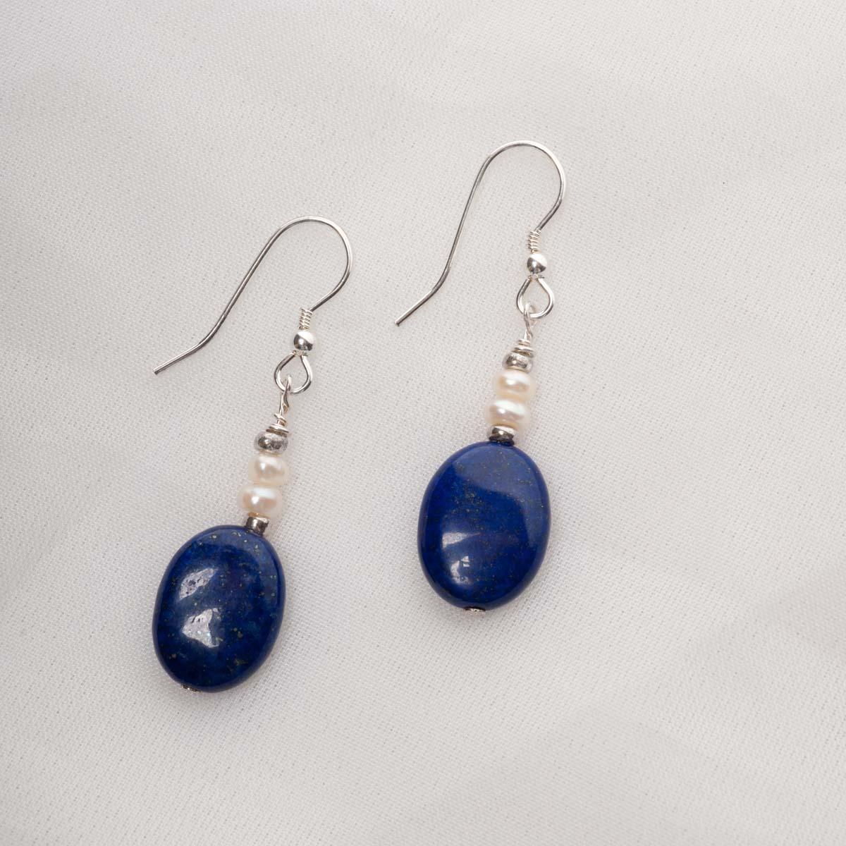 Azura - Lapis Lazuli Pearl Earrings