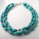 Turquoise Triple Strand Necklace 1