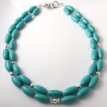 turquoise and hematite necklace