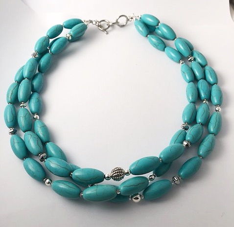 Turquoise Triple Strand Necklace 14
