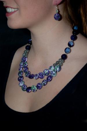 Jasper & Swarovski Crystal NEcklace