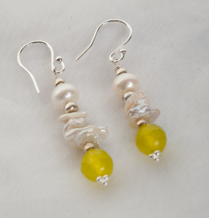 Culutered Pearl Earrings - bridal jewellery 3