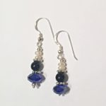 A Sapphire Crystal Quartz and Sterling Silver Hoop Earrings 3