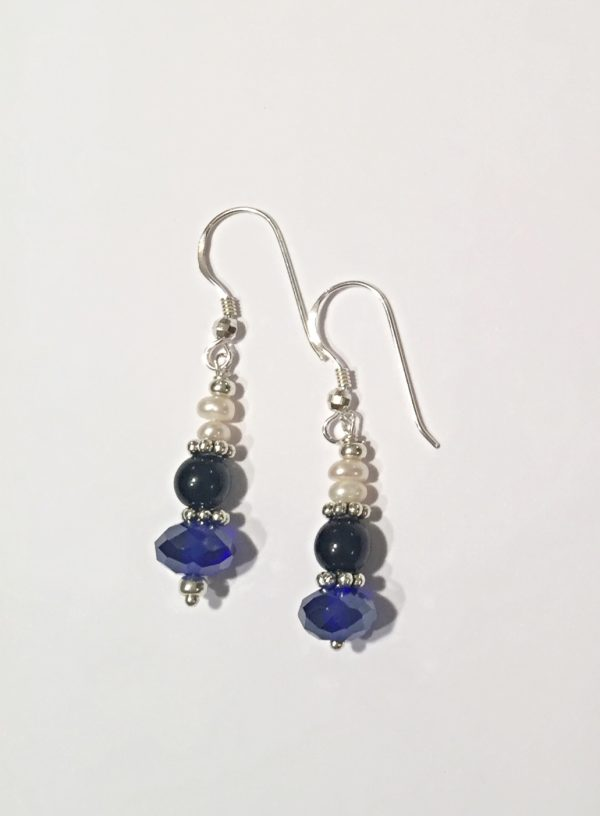 A Sapphire Crystal Quartz and Sterling Silver Hoop Earrings 6