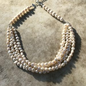Four Stranded Pearl Necklace